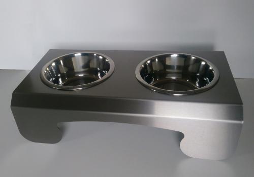 PET-BAR Dog 2 nerezový stojan 2 misky