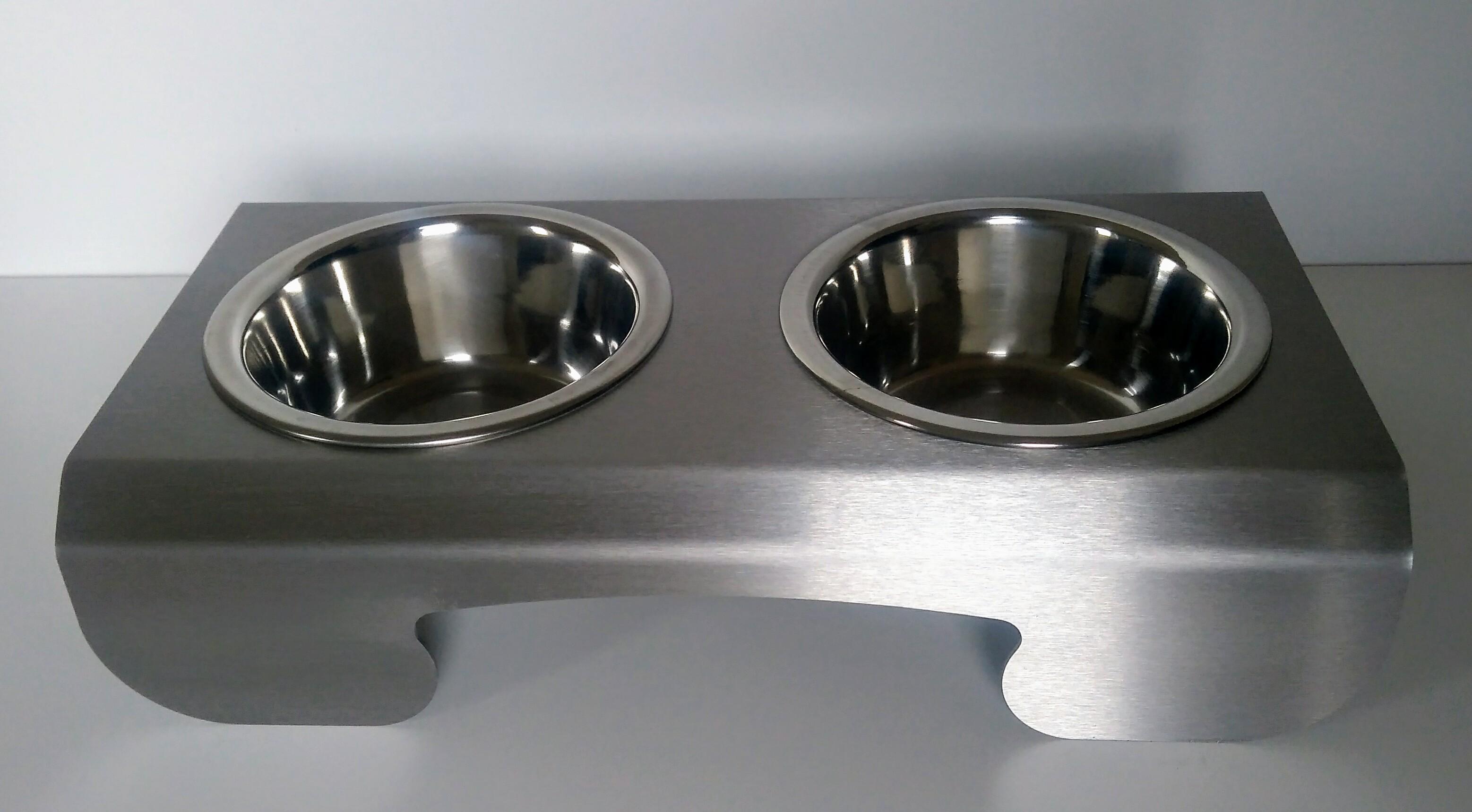 PET-BAR Cat 1 nerezový stojan 2 misky